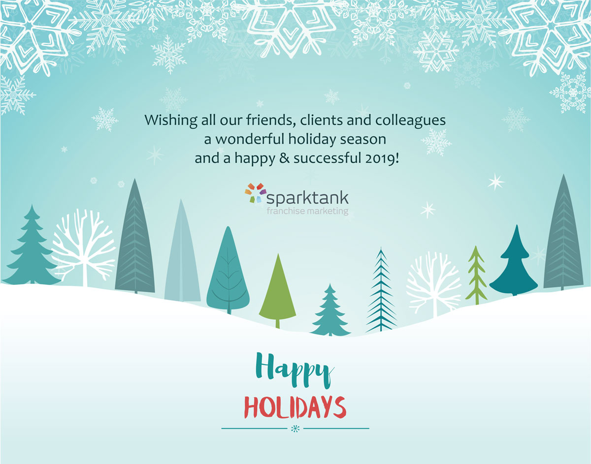 Happy Holidays from Sparktank Franchise Marketing!