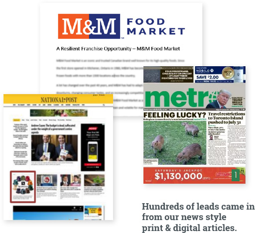 M&M Food Market media buying campaigns